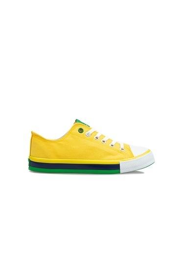 Benetton Bn30191  Erkek Spor Ayakkabı Sarı